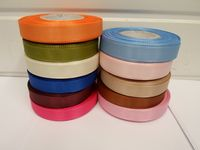Light Baby Pink Taffeta ribbon, 2 metres, Double sided, 8mm 15mm 25mm 40mm Rolls